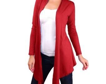 Maxi Women's Lightweight Cardigan, Long Sleeve Yoga Wrap, Yoga Jacket , Front opened shrug, Layering cardigan, Sweater