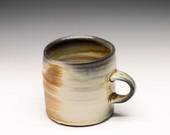 Wood Fired Porcelain Mug - Shino Liner Glaze, 0525012