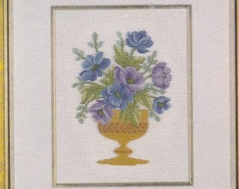Helen Burgess Counted Thread Design. Violet Mix Pattern. HB504