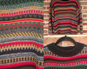 90s Grunge Oversized Pullover Sweater, L/XL