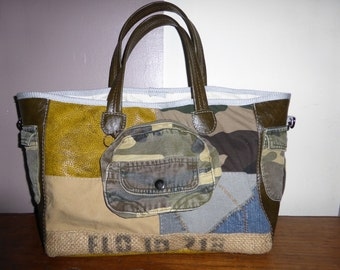 sac cabas couleur militaire