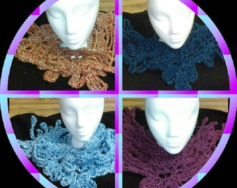 Beseme Handcrafted Crocheted Lacy Scarf