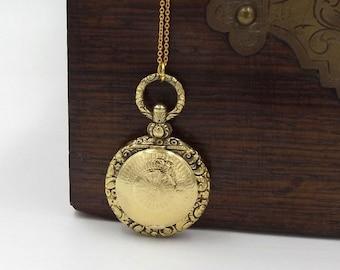 Victorian Locket Necklace | 15ct Gold Cased Locket | 15k Antique Pendant