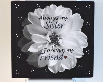 Sister Gifts | Gifts for Sister | Sister Wood Sign | Big Sister Gift | Little Sister Gift | Sister Quote Sign | Sister Sign