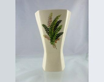 Rare vintage Kingswear fern design vase -- midcentury modern