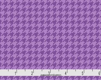 Purple Houndstooth Fabric, Maywood Studios KimberBell Basics MAS8206 VV, Tone on Tone Purple Houndstooth Check Quilt Fabric, Cotton