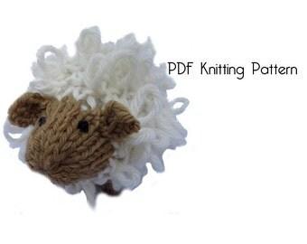 Knitted Sheep Pattern, PDF Pattern, Knitting Pattern, DIY, Amigurumi, Knitted Sheep, Knitted Toys, Stuffed Animal, Stuffed toy Hand Knit Toy