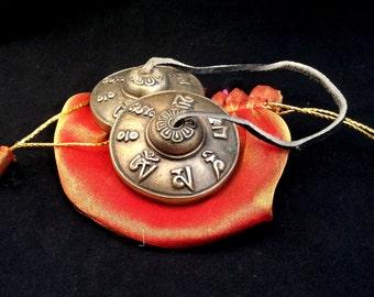 Tingsha. Tibetan Buddhist Small Cymbals. Music, Instrument Dragon or Mantra 27.50 ea