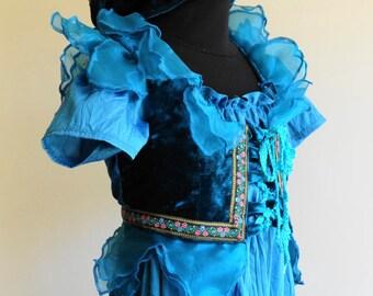 Tanzanite Pixie Costume #rts #Ooak