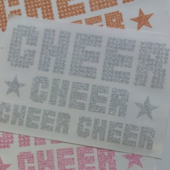 Glitter cheer iron on transfers for diy screen printing by for Diy screen printing t shirts