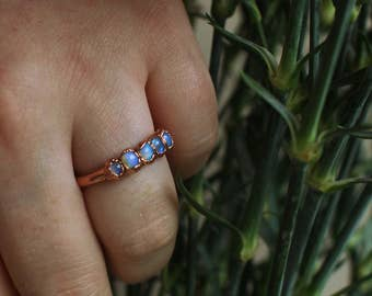 Opal & Copper Ring