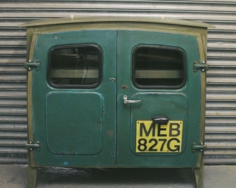 Morris Minor Upcycled Cupboard - Green
