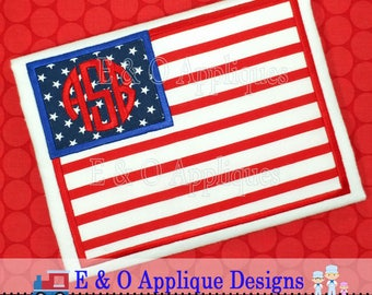 American Flag Applique Design - American Flag Embroidery Design - 4th of July Embroidery - Patriotic Applique Design - Patriotic Embroidery