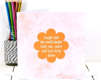 Funny Card; Funny Birthday Card For Husbands; Husband Card; Funny Snoring Card; GC416