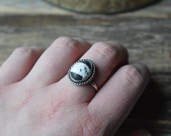 Custom White Buffalo Turquoise Ring White Buffalo Ring Southwest Style Jewelry Metalsmith Jewelry