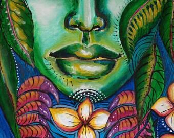 Bali Spirit,high quality print on fabric(tapestry print)