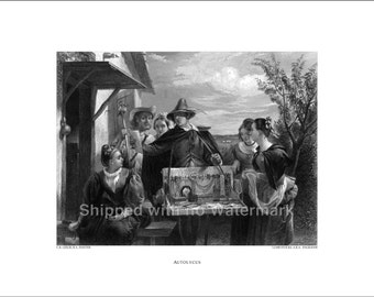 AUTOLYCUS Engraving Reproduction by C.R. Leslie R.A. museum quality giclée print available in 3 sizes