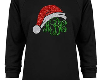 christmas sweater womens christmas shirt womens monogrammed gift monogram sweatshirt personalized gift off the shoulder monogrammed