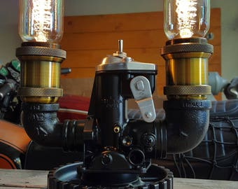 Vintage Spiral Filament Motorcycle Carburetor Lamp