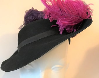 Antique Ostrich Feather Hat