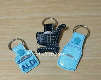 Aldi You Pick I Love Aldi Quarter Keeper Keychain | Coin holder Key Chain Shopping key chain