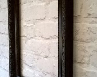 Vintage Ornate Antique Style Black Gloss Picture Frame A3