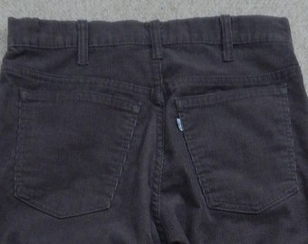 80's Levi brown cords, corduroy pants in excellent condition