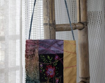 Hand Bag, Ethnic Shoulder Bag,  Ethnic Boho Hipster, Messenger Bag, Embroidered Fabric , Ethnic Shoulder Bag, Embroidered Purse