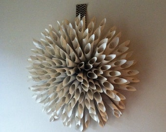 Paper flower wall decor