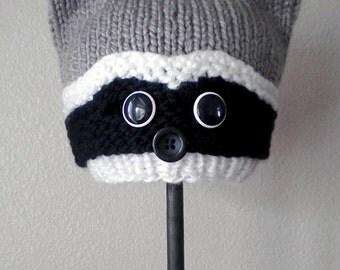 Woodland Raccoon Knit Hat Pattern