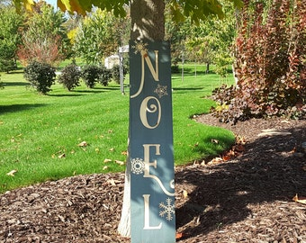 Noel Entry Sign, Vertical Welcome Board, Entry Way Sign, Noel Christmas Sign, Outdoor Sign