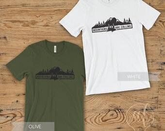 Mountains are calling Shirt - Mountain Shirt - Hiking shirt - Mountains shirt  - Adventure shirt - tumblr shirt -camping shirt -nature shirt