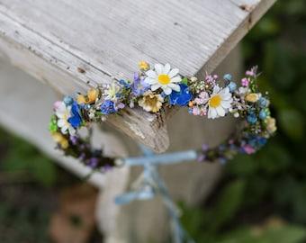 Floral wreath Colorful wreath Meadowy wreath Wreath inspirated by spring Wedding wreath Magaela accessories Hair jewellery