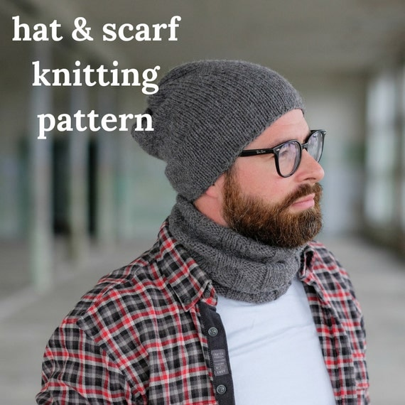 Knitting Patterns Hat Scarf Combination : Pattern Combo: Hat and Scarf Set / Woolture FINN Beanie ...