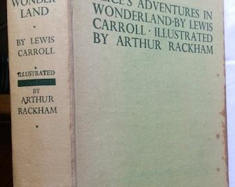 Alice's Adventures in Wonderland by Lewis Carroll, 12 Colour Plates by Arthur Rackham, Heinemann 1930