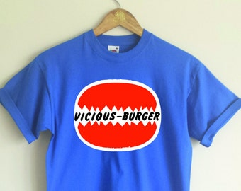 Vicious Burger T-shirt - Sid Vicious, Punk, Various Sizes/Colours