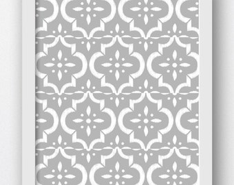 Moroccan, Printable Art, Moroccan Wall Art, Gray And White Prints, Gray Wall