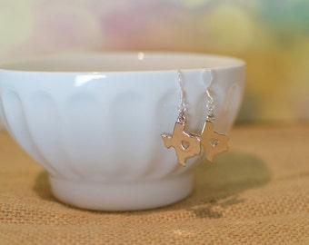 Texas Jewelry, Texas Charm Earrings, Texas Earrings, My Heart is in Texas, State Jewelry