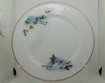Vintage pyrex -JAJ pyrex wild fowl side plate or tea plate  - replacement