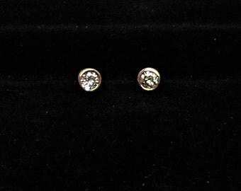 Diamond Earring, Diamond Stud Earring, 14k Diamond Earrings, 14k Diamond Stud Earrings, Gold and Diamond Stud Earring,