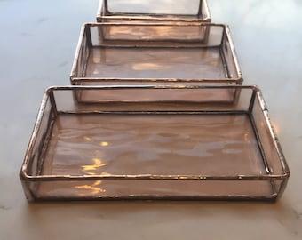 Handmade Stained Glass Mini-Trays