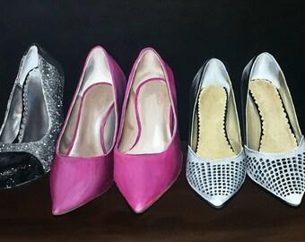 Acrylic Shoe Painting