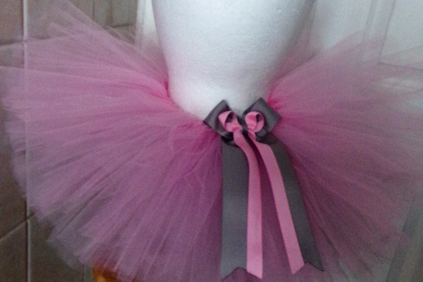 Pink Silver Traditional Tutu Skirt Cake Smash Photo Shoot Baby Toddler Girl
