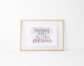 Learning classroom art,motivational office print, typography teacher gift,mother sister holiday present,volunteer home decor quote