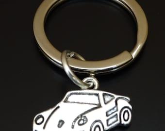Porsche Keychain, Custom Keychain, Custom Key Ring, Porsche Pendant, Porsche Charm, Porsche Jewelry, Porsche Key Chain, Porsche 911 Keychain