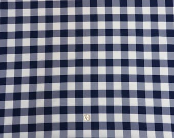 60 X 126 Inch Rectangular Navy And White Checkered Tablecloth Polyester    Wedding Tablecloth