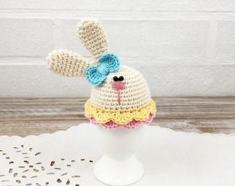 Crochet Easter Bunny Egg, Easter Decoration, Easter Table Decor, Easter Egg Cosy, Egg Warmer, Easter Gift, Spring Eggs, Easter Bunny Egg