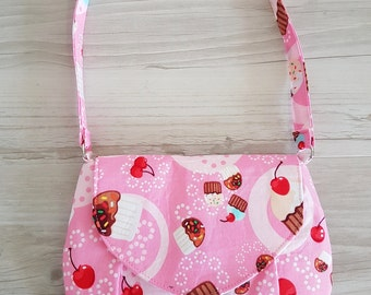 Pink cupcakes and cherries Little Miss Shoulder Bag - A great grab and go purse or little girls 'just like mummy' bag