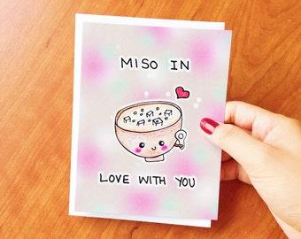 Funny anniversary card, cute anniversary card for boyfriend, funny love card for husband, cute love card for girlfriend, miso card for wife