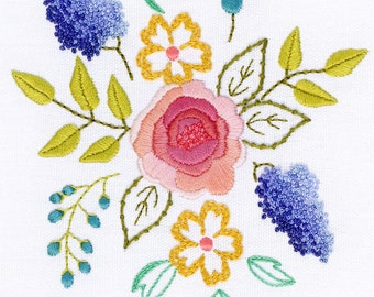 Hand Embroidery Kit - Blush Bouquet